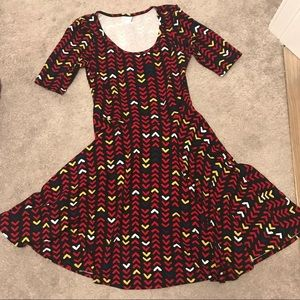 Size L Lularoe Nicole dress
